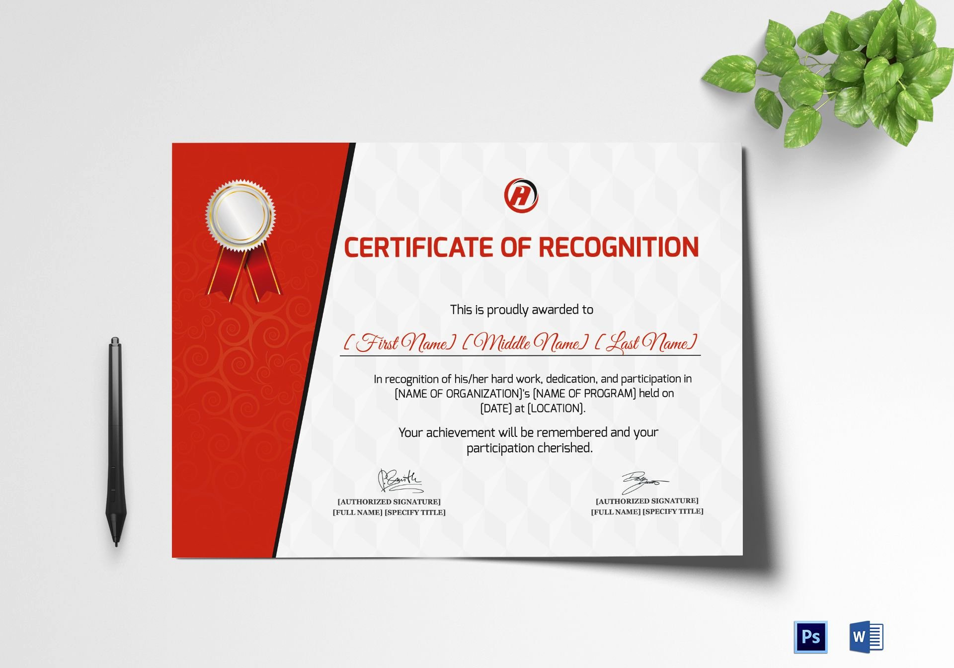 Baby Dedication Certificate Wording Unique Certificate Of Recognition for Dedication Template In Psd