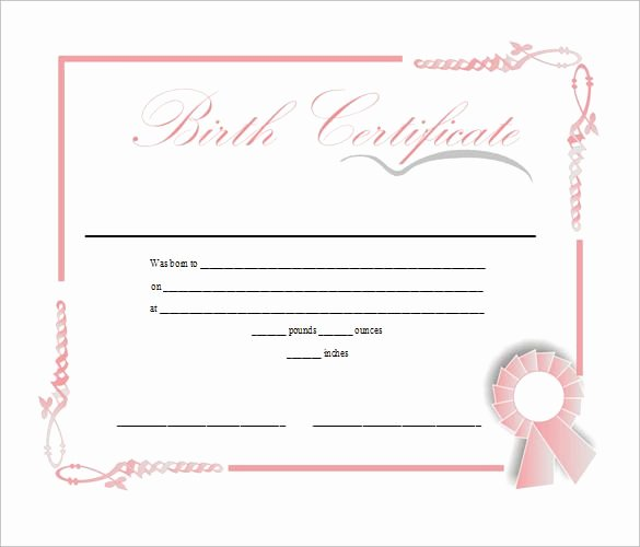 Baby Doll Birth Certificate Template Luxury Birth Certificate Template Free Download In Doc