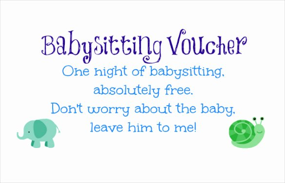 Babysitting Certificate Template Free Beautiful 11 Baby Sitting Coupon Templates Psd Ai Indesign