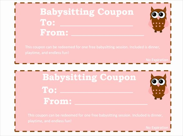 Babysitting Certificate Template Free Fresh 12 Baby Sitting Coupon Templates Psd Ai Indesign