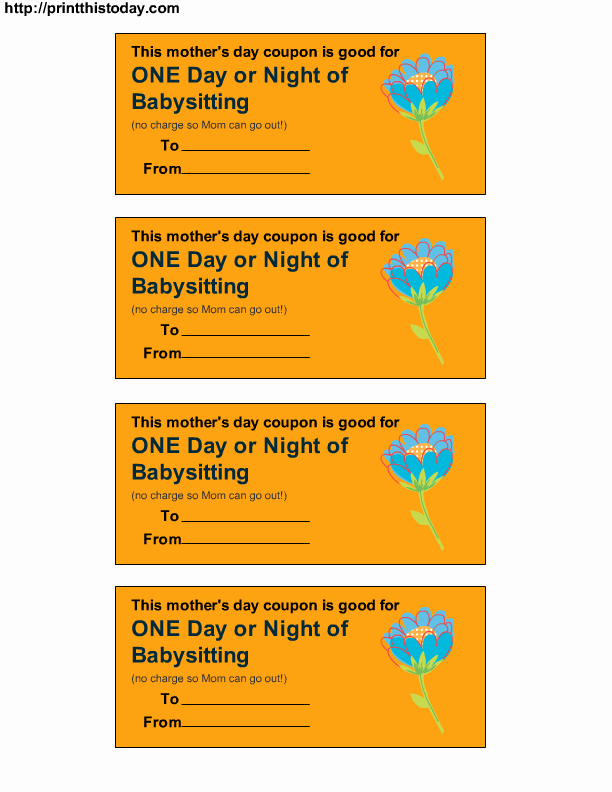 Babysitting Certificate Template Free New Free Printable Babysitting Coupon Download Free Clip Art
