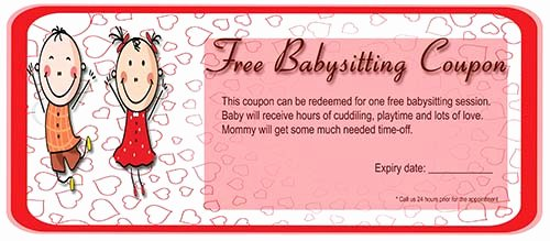 Babysitting Certificate Template Free Unique 27 Of Babysitting Coupon Template