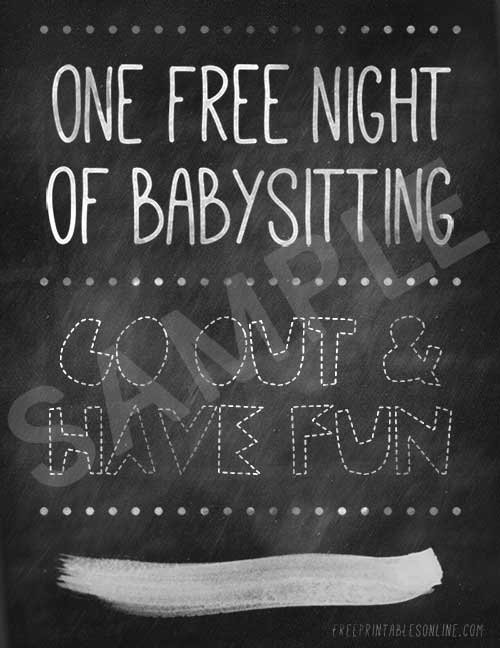 Babysitting Certificate Template Free Unique E Free Night Of Babysitting