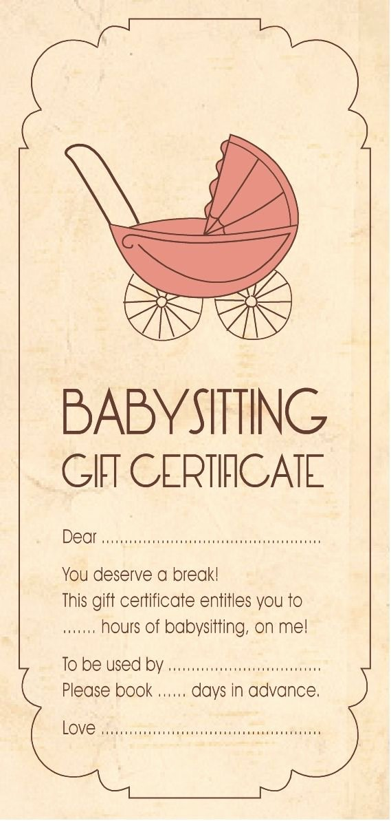 Babysitting Gift Certificate Template Best Of Christmas Cheer Gift Idea Babysitting Aloha organizers