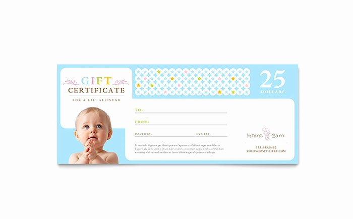 Babysitting Gift Certificate Template Best Of Infant Care & Babysitting Gift Certificate Template Design