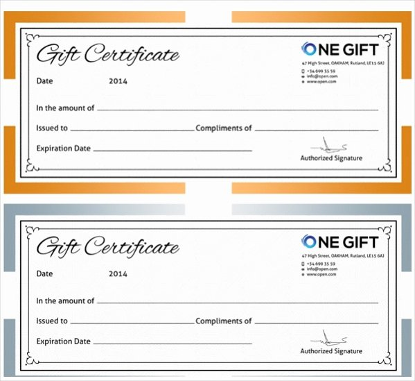 Bakery Gift Certificate Template Awesome 21 Free Gift Certificates Psd Ai Word Vector Eps