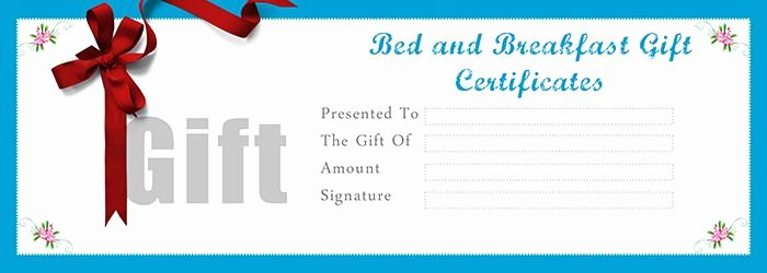Bakery Gift Certificate Template Awesome Bed and Breakfast Gift Certificates Templates Free Gift