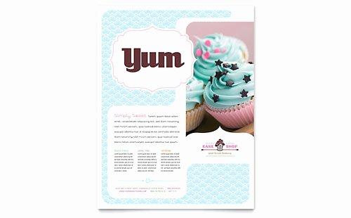 Bakery Gift Certificate Template Elegant Bakery & Cupcake Shop Gift Certificate Template Design