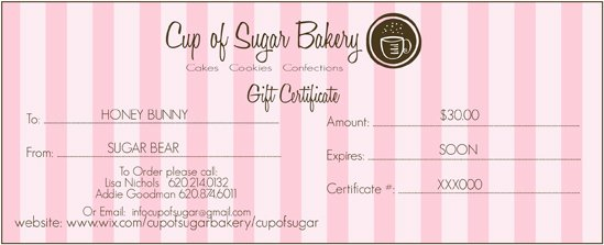 Bakery Gift Certificate Template Luxury Bakeries Logo Cake Ideas and Designs
