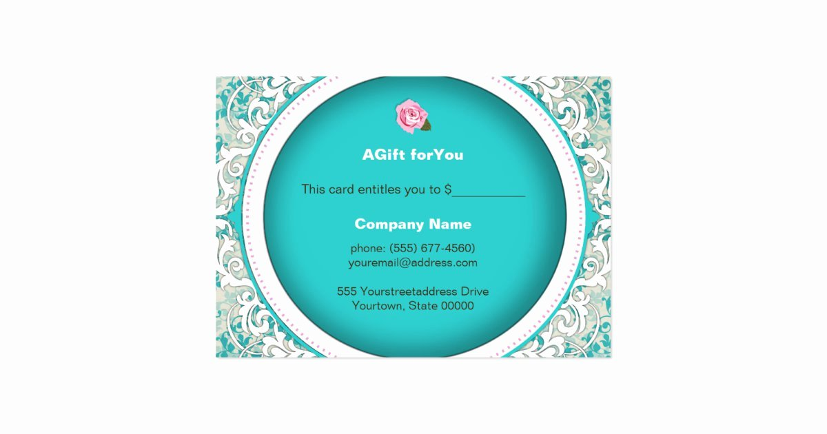 Bakery Gift Certificate Template New Elegant Bakery Gift Certificates Business Card