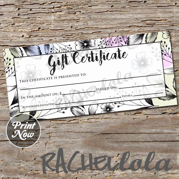 Bakery Gift Certificate Template Unique Items Similar to Floral Black Blue and Purple Gift