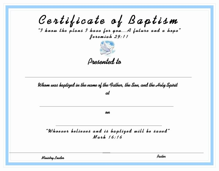 Baptism Certificate Free Template Awesome 10 Best Images About Church Certificates On Pinterest