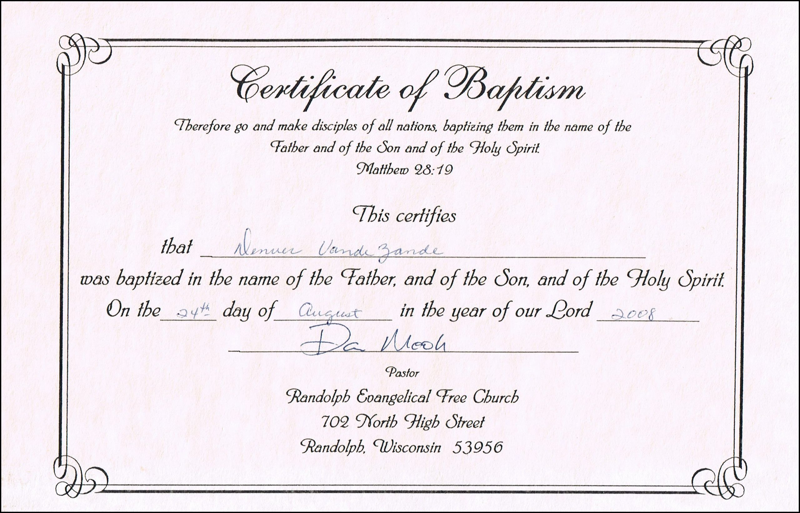 Baptism Certificate Free Template Awesome Baptism Certificates Free Line