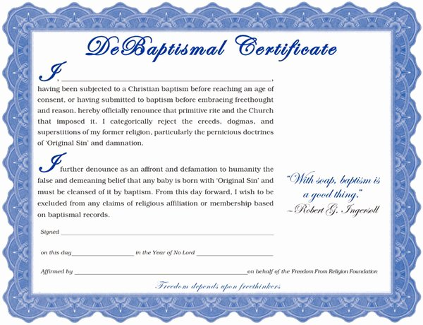 Baptism Certificate Free Template Lovely Baptism Certificate Template Word