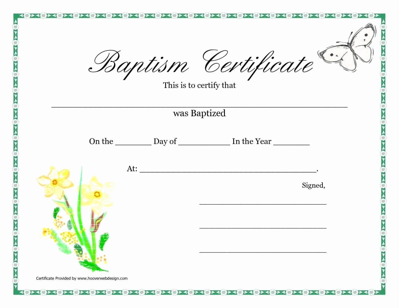 Baptism Certificate Free Template New Sample Baptism Certificate Templates