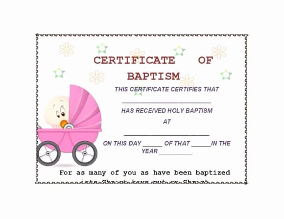 Baptism Certificate Template Free Best Of 47 Baptism Certificate Templates Free Printable Templates