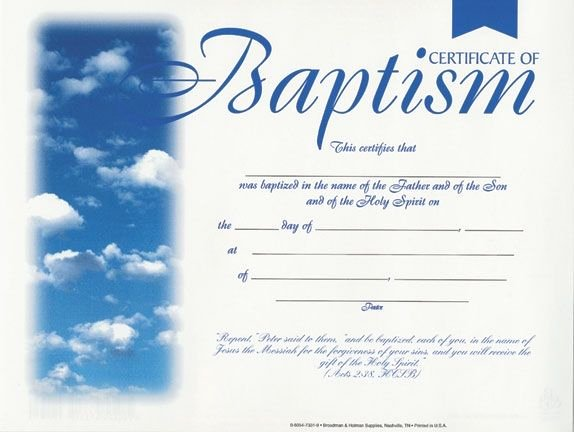 Baptism Certificate Template Free New 20 Best Images About Baptism On Pinterest