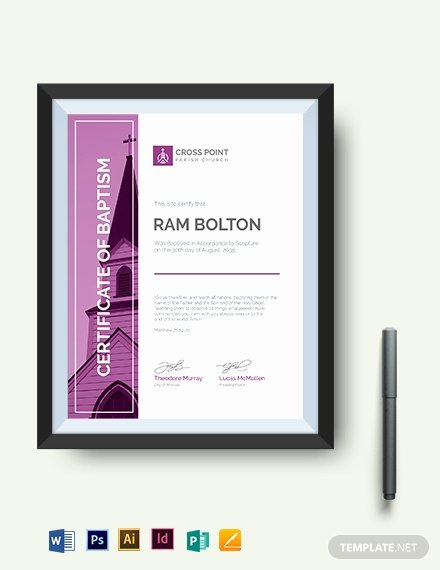 Baptism Certificate Template Word Best Of Modern Baptism Certificate Template Download 333