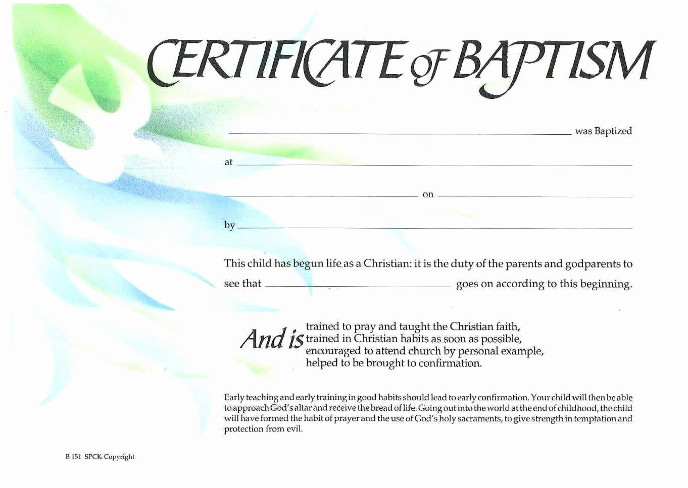 Baptism Certificate Template Word Inspirational Sample Baptism Certificate Templates