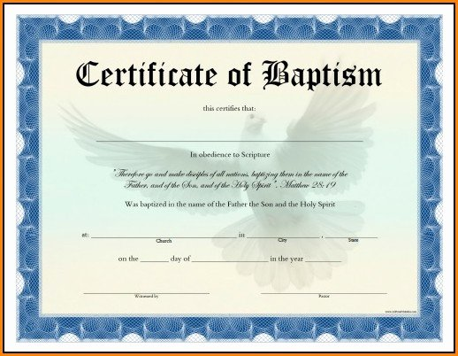Baptism Certificate Template Word New Free Baptism Certificate Template Word Template 1