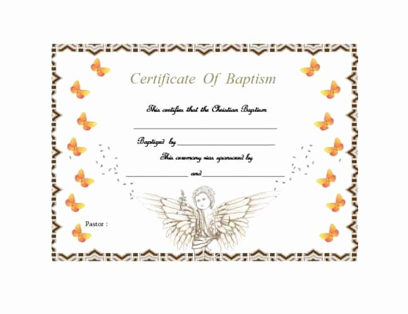 Baptism Certificate Templates Free Download Awesome 47 Baptism Certificate Templates Free Printable Templates
