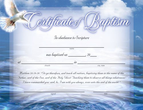 Baptism Certificate Templates Free Download Elegant Certificate Of Baptism Certificates Church Supplies