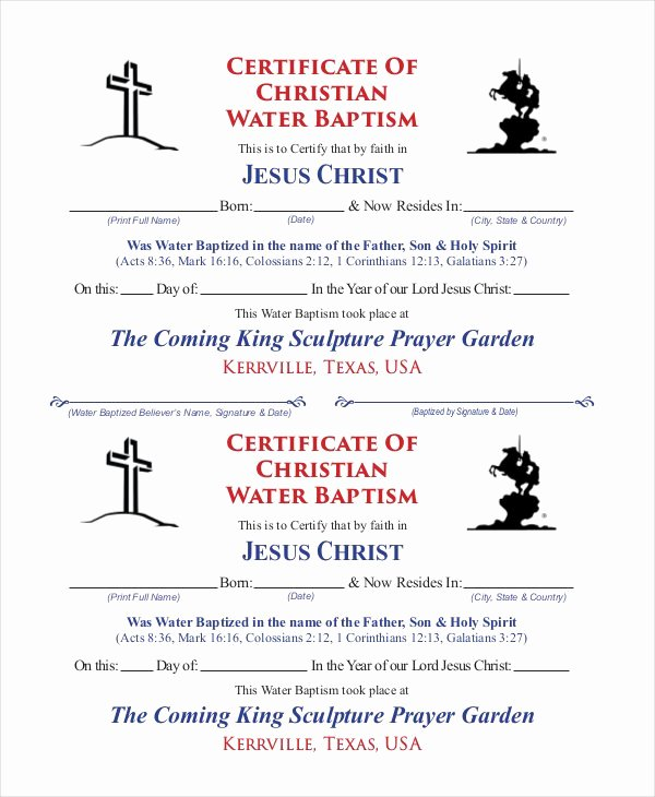Baptism Certificates Free Download Lovely 12 Baptism Certificate Templates