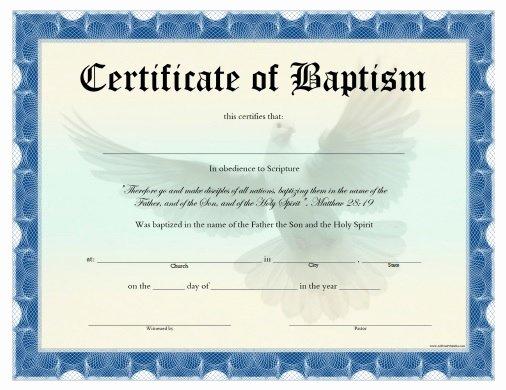 Baptism Certificates Free Download Unique Certificate Of Baptism Free Printable Allfreeprintable
