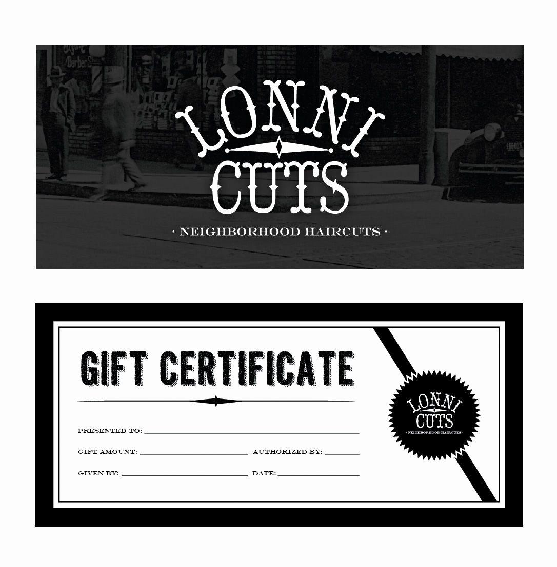 Barber Shop Gift Certificate Template Awesome Lonni Cuts Barbershop Nj