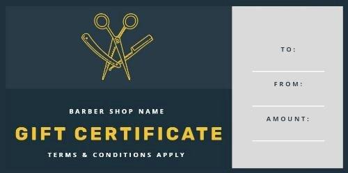 Barber Shop Gift Certificate Template Inspirational Design Your Own Barber Shop Gift Certificate