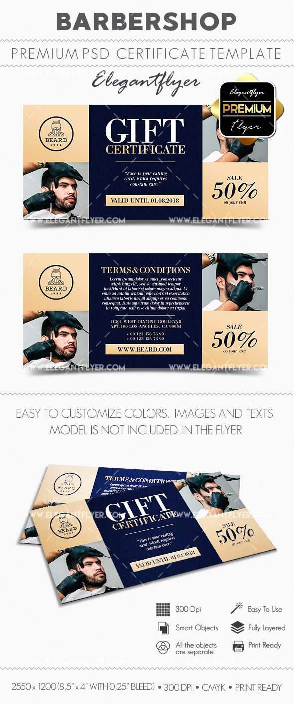 Barber Shop Gift Certificate Template Lovely Barber Shop Gift Certificate Template