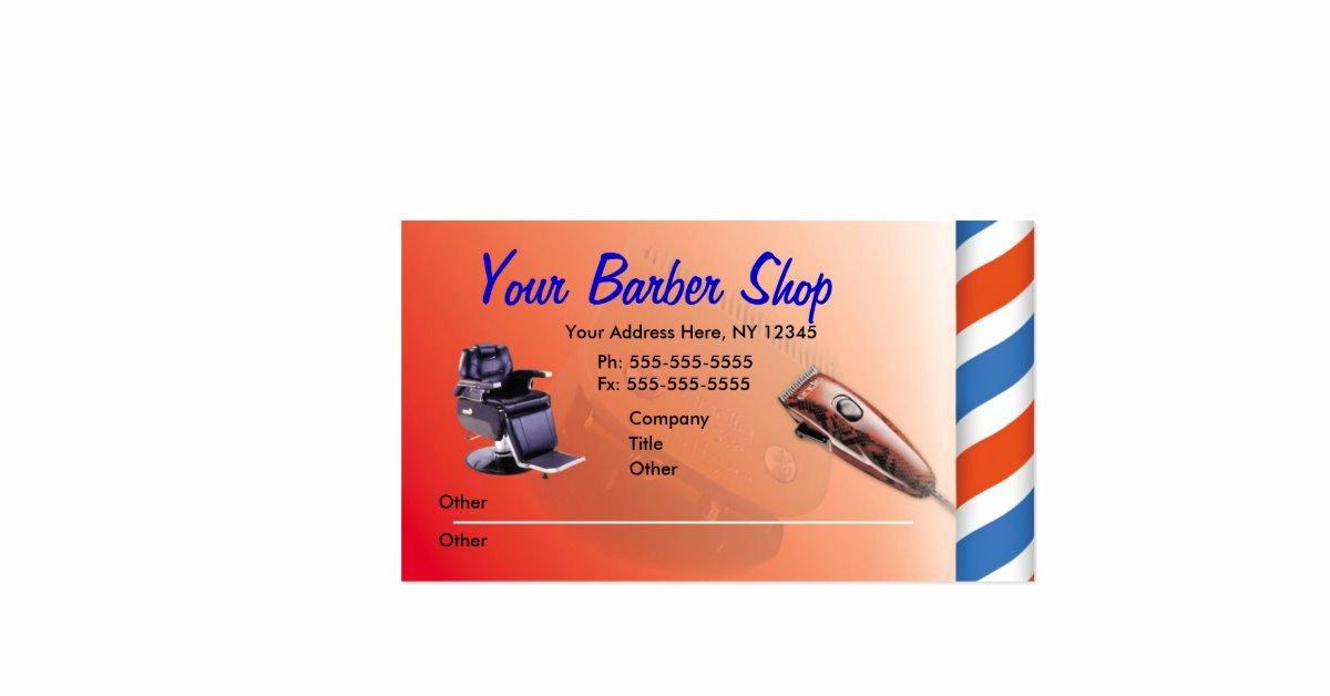Barber Shop Gift Certificate Template Unique Barber Shop Business Cards