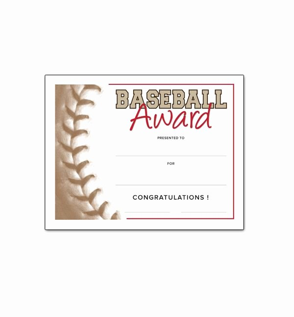 Baseball Award Certificate Template Beautiful Free Certificate Templates for Youth athletic Awards