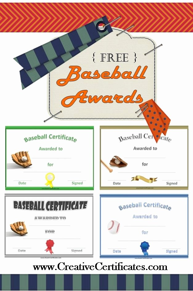 Baseball Award Certificate Template Beautiful Free Printable Baseball Awards and Certificates