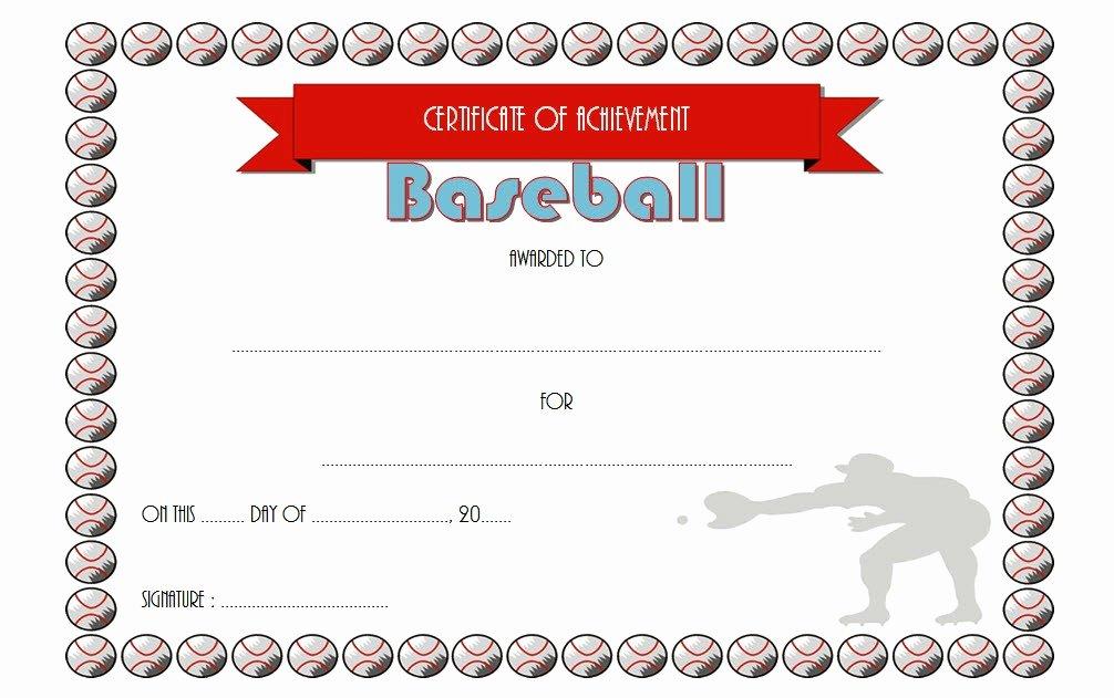 Baseball Award Certificate Template Inspirational Editable Baseball Award Certificates [9 Sporty Designs Free]