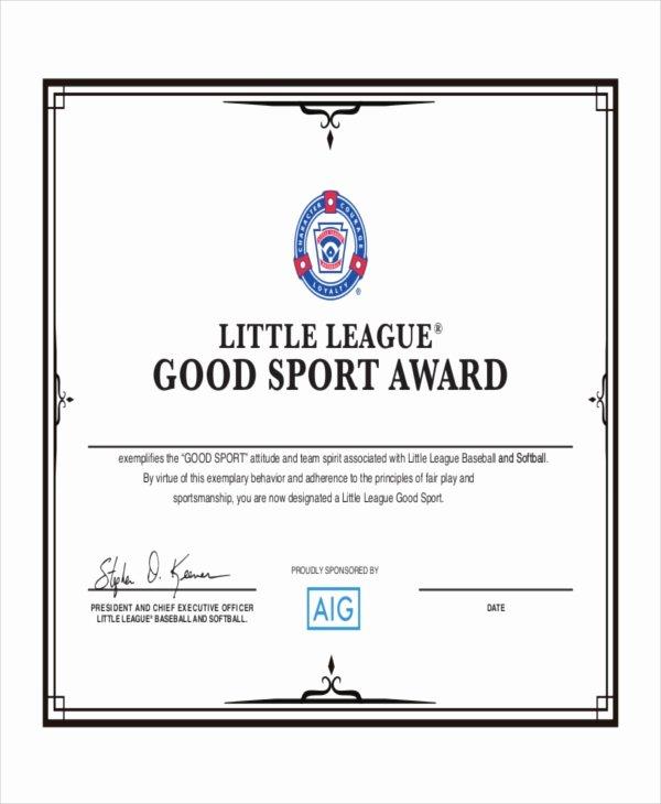 Baseball Award Certificate Template Lovely Baseball Certificate Template 8 Pdf Word Ai Indesign