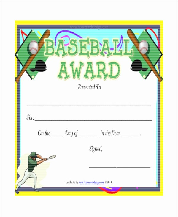 Baseball Certificate Template Word Elegant T Ball Certificate Template 5 Word Pdf Ai Indesign