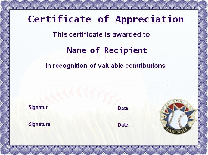 Baseball Certificate Template Word Luxury Sports Template