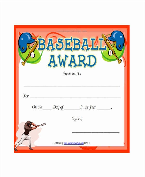 Baseball Certificate Template Word New Baseball Certificate Template 8 Pdf Word Ai Indesign