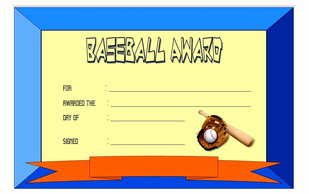 Baseball Certificate Template Word New Editable Baseball Award Certificates [9 Sporty Designs Free]