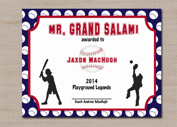 Baseball Certificate Template Word Unique Baseball Sports Award Certificate 8 5 X 11 Printable