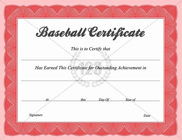Baseball Certificates Templates Free Beautiful Baseball Certificate Templates Baseball Award Certificate