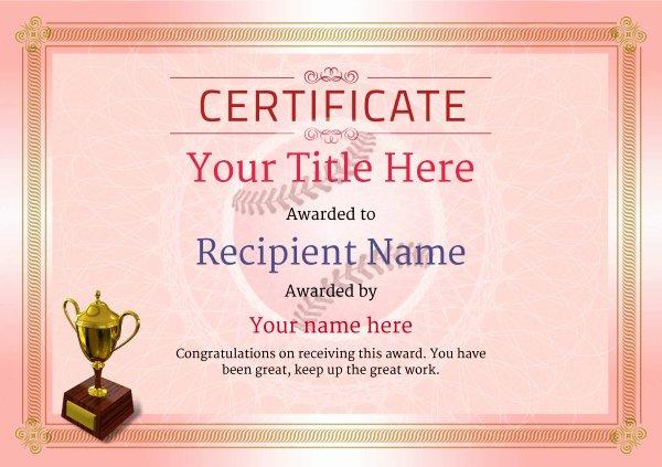 Baseball Certificates Templates Free Best Of Use Free Baseball Certificate Templates by Awardbox