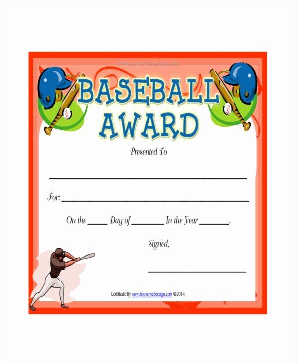 Baseball Certificates Templates Free Inspirational Baseball Certificate Template 8 Pdf Word Ai Indesign