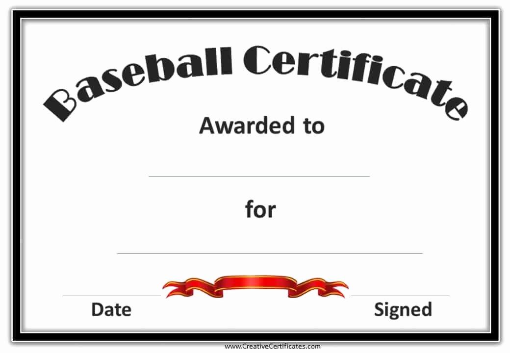 Baseball Certificates Templates Free Inspirational Free Baseball Certificate Awards Customize Line