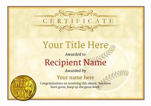 Baseball Certificates Templates Free New Use Free Baseball Certificate Templates by Awardbox