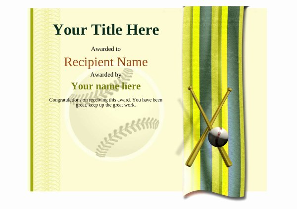 Baseball Gift Certificate Template Best Of Use Free Baseball Certificate Templates by Awardbox