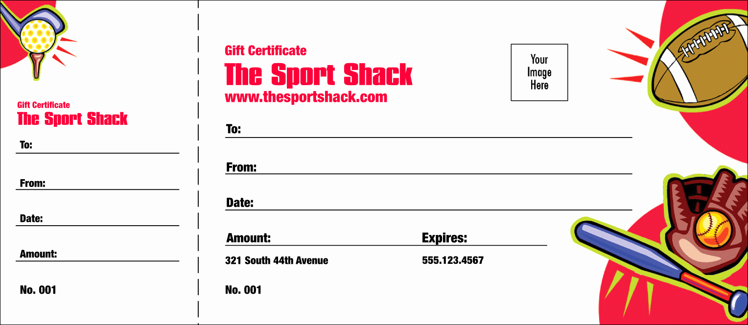 Baseball Gift Certificate Template Inspirational Sports Gift Certificate 002