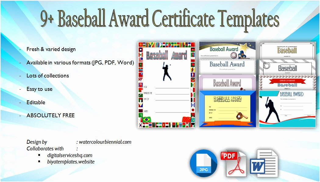 Baseball Gift Certificate Template Unique Unicorn Adoption Certificate Templates [7 Wonderful