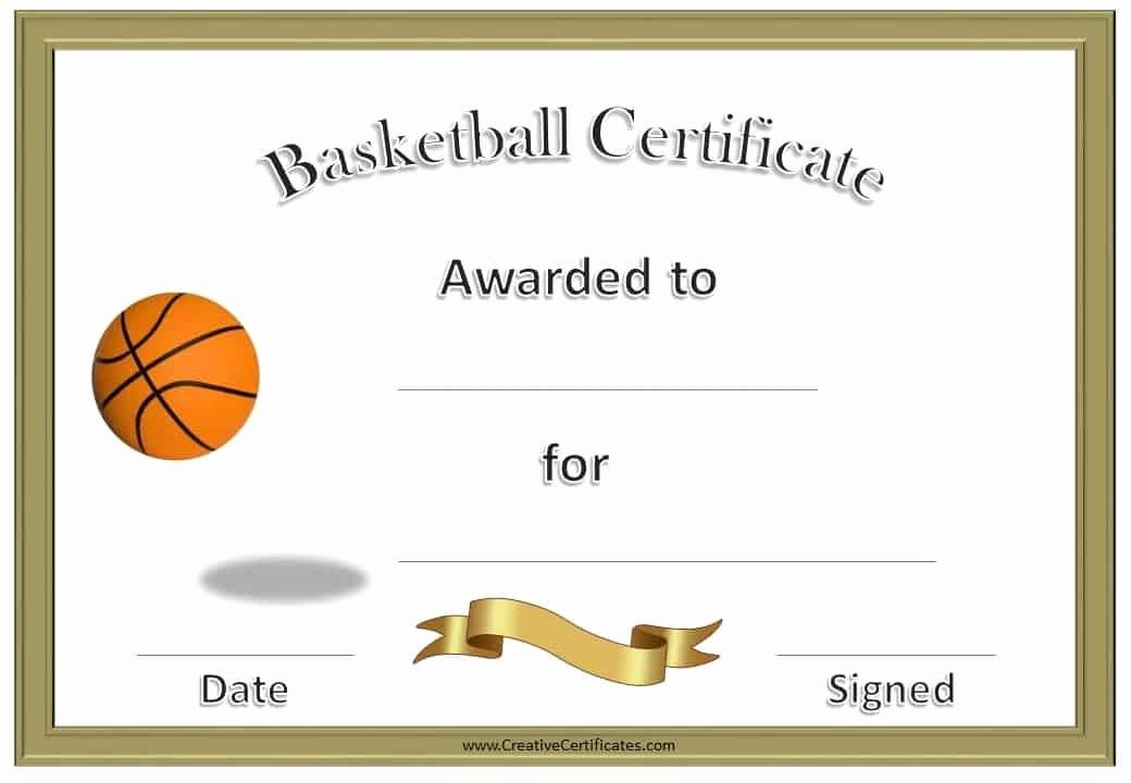Basketball Award Certificate Template Elegant Free Editable Basketball Certificates